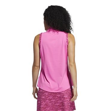 adidas Ladies Ultimate365 Sleeveless Polo Shirt Screaming Pink