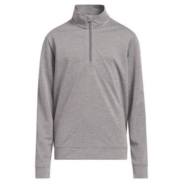 adidas Junior - Boys Heather ¼ Zip Sweatshirt Grey Three - Melange