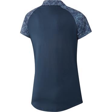 adidas Ladies Ultimate365 Primegreen Printed Polo Shirt Crew Navy