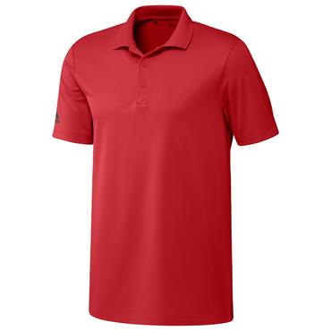 adidas Gents Performance Polo Shirt Collegiate Red