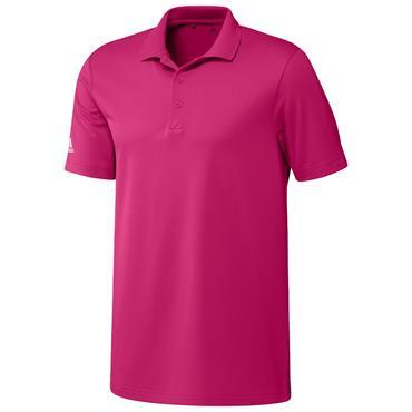 adidas Gents Performance Polo Shirt Real Magenta