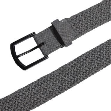 adidas Gents Braided Stretch Belt Grey Three