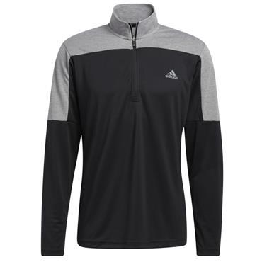 adidas Gents 1/4 Zip UPF Lightweight Top Black