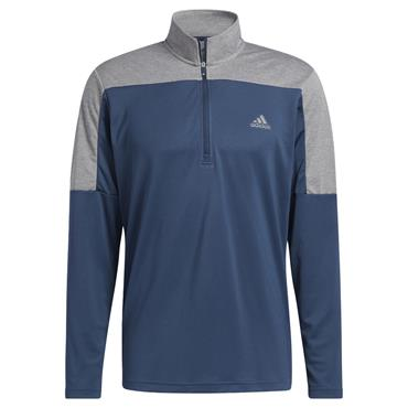 adidas Gents Lightweight ¼ Zip Sweatshirt Crew Navy