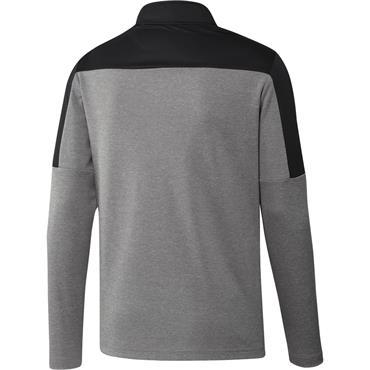 adidas Gents 1/4 Zip UPF Lightweight Sweater Grey