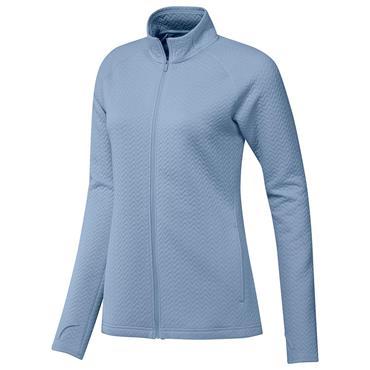 adidas Ladies Textured Layer Jacket Ambient Sky
