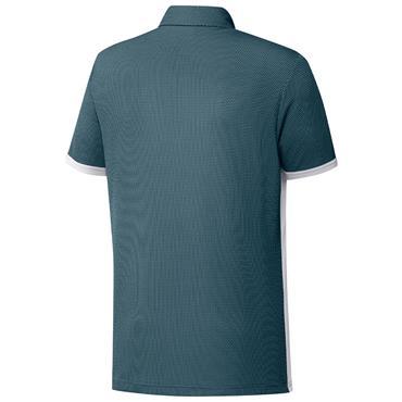 adidas Gents Equipment Two-Tone Mesh Polo Shirt White - Wild Teal
