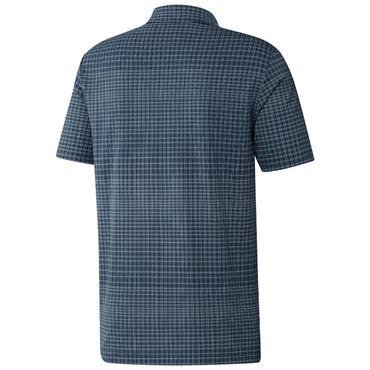 adidas Gents Ultimate365 AllOver Print Primegreen Polo Shirt Crew Navy - Halo Blue