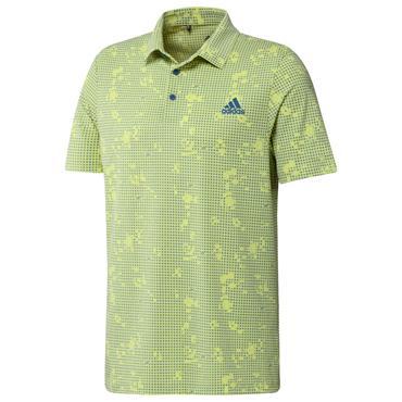 adidas Gents Night Camo-Print Primegreen Polo Shirt Polo Shirt Pulse Yellow Mel - Focus Blue
