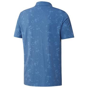 adidas Gents Night Camo-Print Primegreen Polo Shirt Focus Blue Mel - Crew Navy