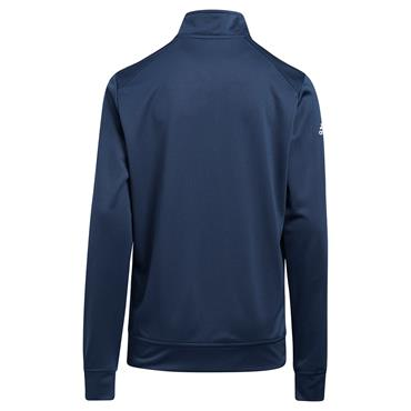 adidas Junior - Boys ¼ Zip Solid Heather Pullover Crew Navy