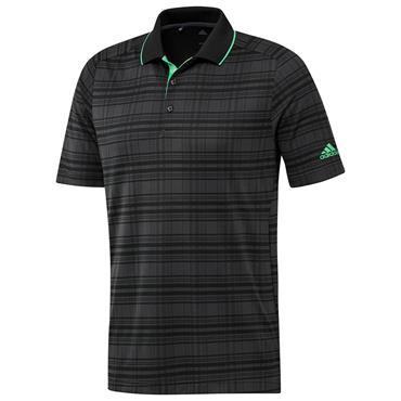 adidas Gents Satatement No-Show Polo Primegreen Polo Shirt Carbon - Jungle Ink - Black