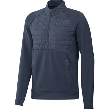 adidas Gents Statement 1/4 Zip Pullover Crew Navy