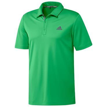 adidas Gents Advantage Novelty Polo Shirt Semi Screaming Green