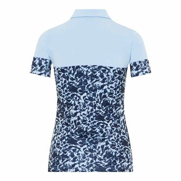 J.Lindeberg Ladies Ditte TX Jersey Polo Shirt Baby Whisper Icelayer