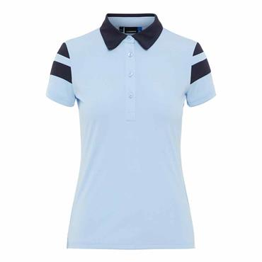 J.Lindeberg Ladies Pixie TX Jersey Polo Shirt Baby Whisper