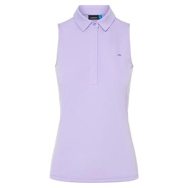 J.Lindeberg Ladies Dena Jersey Polo Shirt Purple
