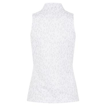 J.Lindeberg Ladies Dena Sleeveless Print Top Animal Grey - White