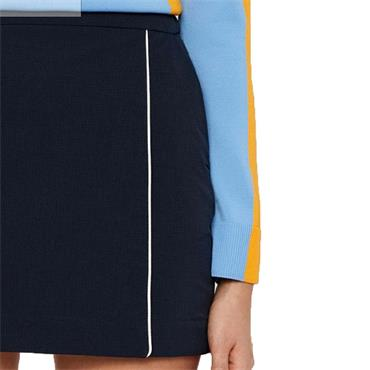 J.Lindeberg Ladies Semina Tech High Vent Skirt Navy
