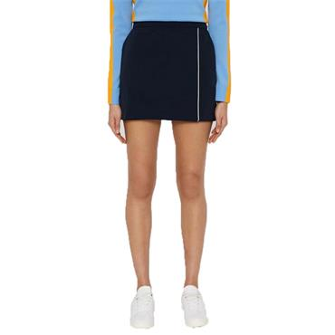 J.Lindeberg Ladies Semina Tech High Vent Skirt Navy