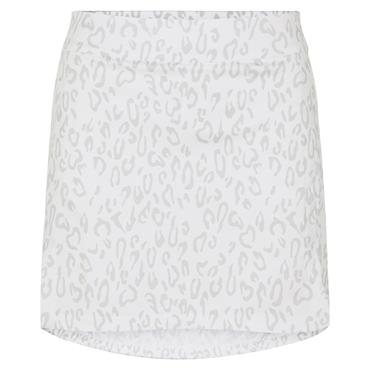 J.Lindeberg Ladies Amelie Mid Print Skirt Animal Grey - White