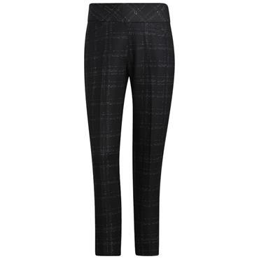 adidas Ladies Ultimate365 Print Primegreen Ankle Pants Black - White