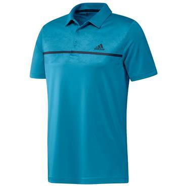 adidas Gents Primegreen Print Polo Shirt Sonic Aqua