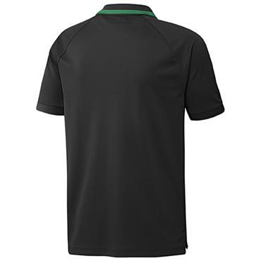 adidas Gents Go-To Primegreen Pique Polo Shirt Black - Screaming Green