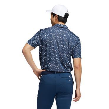 adidas Gents Primeblue Polo Shirt Crew Navy  - White