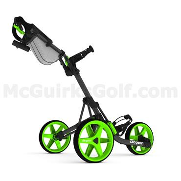Clicgear 3.5+ Push Trolley Charcoal - Lime