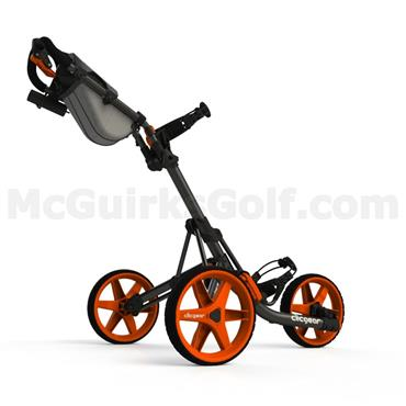 Clicgear 3.5+ Push Trolley Charcoal - Orange