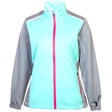 Proquip Ladies TourFlex Lite Katrina Waterproof Jacket Pool Blue White Pink