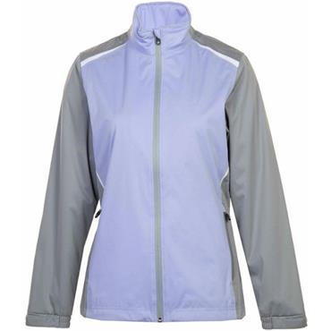 Proquip Ladies TourFlex Lite Katrina Waterproof Jacket Lilac - Grey - White