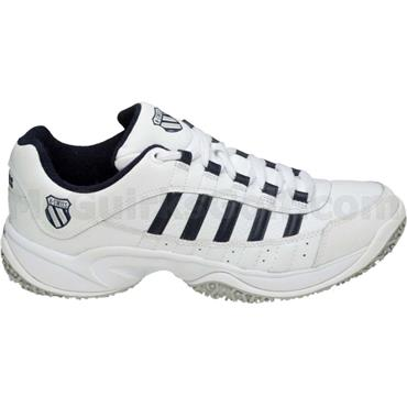 K-Swiss Gents Outshine Tennis Shoes White - Navy