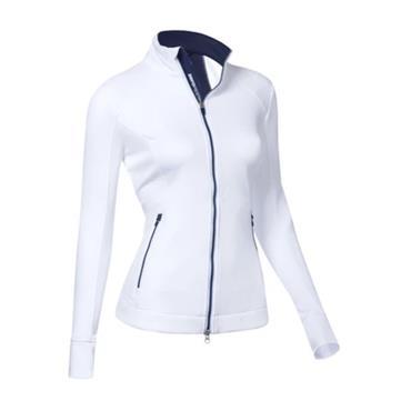 Zero Restriction Ladies Mikaela Full Zip Top White - Storm