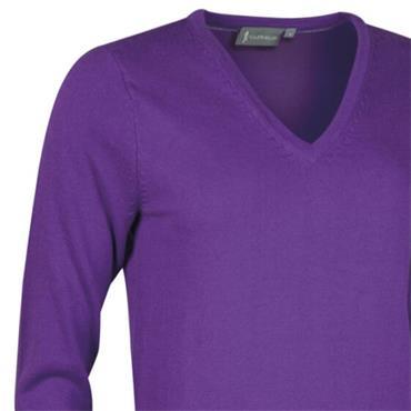 Glenmuir Ladies Darcy V Neck Sweater Royal Purple
