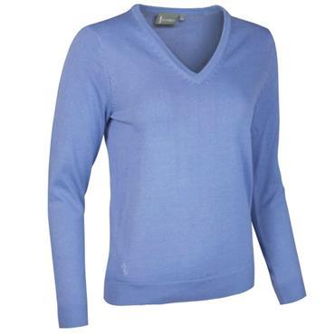 Glenmuir Ladies Darcy V Neck Sweater Light Blue