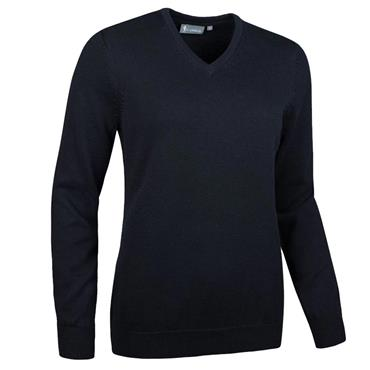 Glenmuir Ladies Flora V Neck Touch of Cashmere Golf Sweater Black