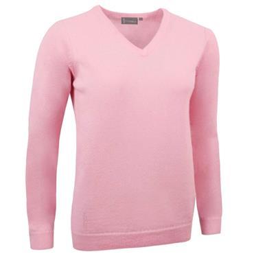 Glenmuir Ladies Nina V-Neck Lambswool Sweater Candy