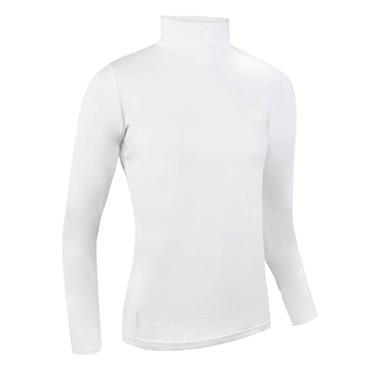 Glenmuir Ladies Hayley Roll Neck Long Sleeve Cotton Shirt White