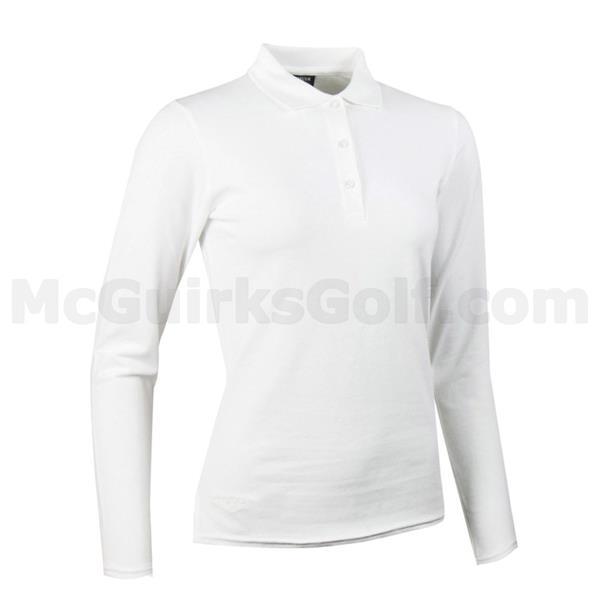 5519661cc Code P-LSC2412WHITELadiesAW17. Glenmuir Ladies Tess Long Sleeve Cotton  Pique Polo Shirt White