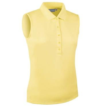 Glenmuir Ladies Jenna Sleeveless Polo Shirt Light Yellow
