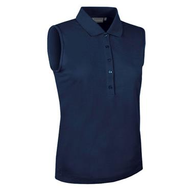 Glenmuir Ladies Jenna Sleeveless Polo Shirt Navy