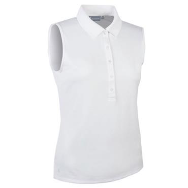 Glenmuir Ladies Jenna Sleeveless Polo Shirt White