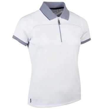 Glenmuir Ladies Nadia Polo Shirt White - Navy