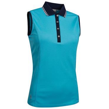 4ed0a9904c9c4 Glenmuir Ladies Orissa Sleeveless Polo Shirt Aqua - Navy - Silver ...