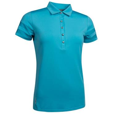 Glenmuir Ladies India Mesh Sleeve Polo Shirt Aqua
