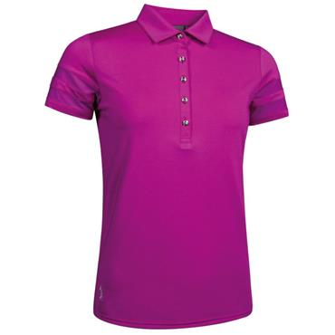 Glenmuir Ladies India Mesh Sleeve Polo Shirt Fuchsia