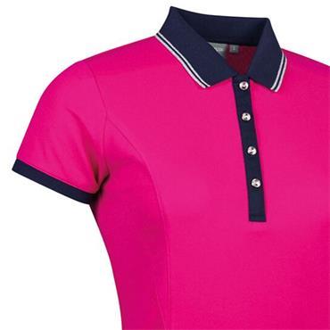 Glenmuir Ladies Harlow Performance Pique Polo Shirt Magenta