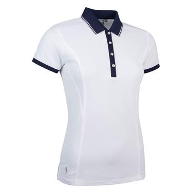 Glenmuir Ladies Harlow Performance Pique Polo Shirt White